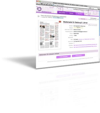 Dokument-Austauschplattform für Printmedien